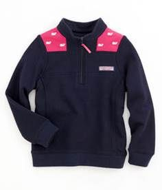 FOR GIRLS:  Vineyard Vines half-zip sweater from Coastal Palms Island Apparel. #vineyardvines #sweater
