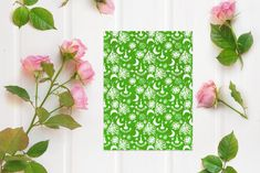 ☘️ Lucky Tessa is a patterned paper printable kit with a kelly green colour scheme. It features hand drawn patterns! Made with love by thoughtfulstudio ☘️ #green #kellygreen #printable #freeprintable #scrapbooking #modernmemorykeeping #grandmillenial #patternedpaper #pattern #cardmaking #stpaddys #stpatricks #stpatricksday #scrapbook #papercrafting #papercraft