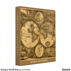 Stay organised with typos awesome 3 ring binders perfect for antique world map binder for travel collections for school or whatever malvernweather Choice Image