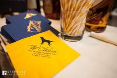 Signature Cocktail named after bride's dog - Napkins - Steve Lee Photography - Weddings