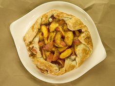Fresh Peaches and Cream Rustic Pie from CookingChannelTV.com