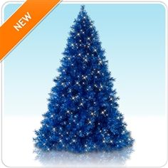 Sassy Sapphire Blue Tinsel Christmas Tree. I'm called sassy for a very good reason...