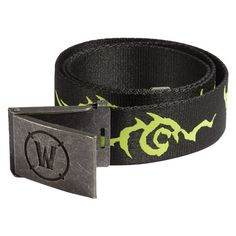 World of Warcraft: Legion Logo Belt: We are Legion. We are a belt. Show off your support for the Burning Legion and, just maybe, Sargeras will be merciful when your time to face him arrives. World Of Warcraft Legion, Branded Belts, Geek Fashion, Gamer Gifts, Online Clothing Stores, Cool Gifts, Belt Buckles, Geek Stuff, Metal