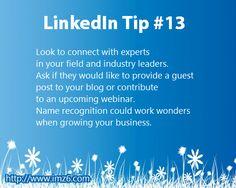 LinkedIn Tip #13