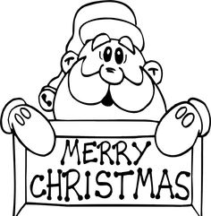 Santa Claus Merry Christmas Coloring Pages