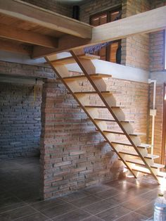 Often, when someone gets started with woodworking it is just simply a hobby. They began with really small projects and maybe the first few aren't so good. Basement Stairs, House Stairs, Tiny Loft, Brick In The Wall, Floating Stairs, Loft Room, Barn House Plans, Wooden Stairs, Industrial Farmhouse