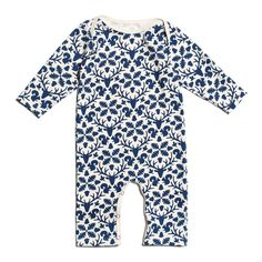 Long-Sleeve Romper - Animal Kingdom Navy
