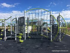 Carrington Playground - calgaryplaygroundreview.com Tyres Recycle, 3 Year Olds, Climbers, Playground, Fair Grounds, Spaces, Park, Street, Travel