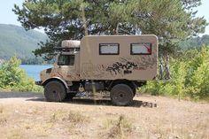 Unimog 435 Mercedes Camper, Mercedes Benz Unimog, Pickup Camper, Truck Camper, Outback Campers, Bike Lift, Little Truck, Adventure Campers, Trucks
