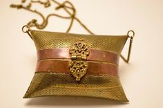 Fun little metal cushion purse Brass and Copper by melsvanity, $42.00