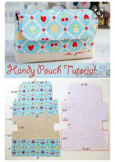 DIY Block Zip Pouch Sew Pattern Tutorial - MyKingList.com