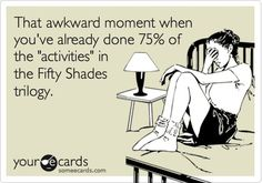 75% Kinky F*ckery ... 25% Vanilla. #FiftyShades @50ShadesSource, not me of course, at least..not yet ;)