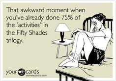 75% Kinky F*ckery ... 25% Vanilla. #FiftyShades @50ShadesSource