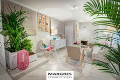 Project in Tv home make over show Querido Mudei a Casa. pavimento/floor tiles MARGRES #ceramictiles #kerlite #laminated stoneware