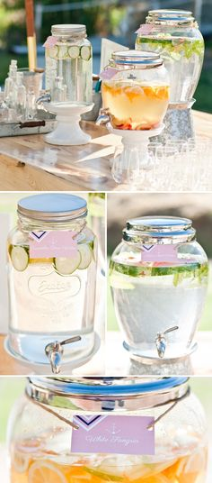 Nautical themed baby shower - fresh beverages