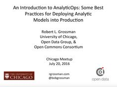 An Introduction to  AnalyticOps