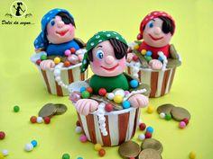 """Dolci da sogno...Ecco allora un altra idea per il vostro sweet table: """"I cupcake dei pirati"""""""