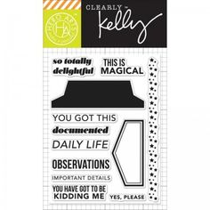 """Hero Arts Clearly Kelly Daily Life 3""""x4"""" Clear Stamp Set CL819"""