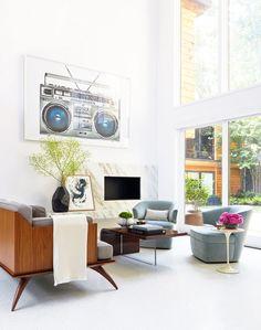 Clean, modern living room