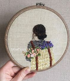 art, drawing, and رَسْم image Hand Embroidery Stitches, Silk Ribbon Embroidery, Embroidery Hoop Art, Cross Stitch Embroidery, Embroidery Designs, Flower Embroidery, Broderie Simple, Sewing Crafts, Stitch Patterns