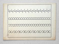 Handwriting card (iv).