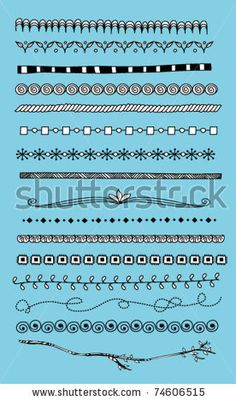 stock vector : Doodle dividers, borders