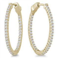 Hoop Earrings Lightz Coll Rnd 10Mm 2Row Gliter Hoop