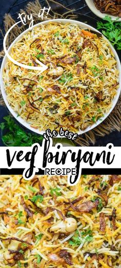 Hyderabadi Vegetable Biryani is a delicious medley of succulent vegetables, spices, ghee, saffron and flavourful basmati rice which no one can resist. Veg Biryani Recipe Indian, Hyderabadi Biryani Recipe, Vegetarian Biryani, Vegetable Biryani Recipe, Dum Biryani, Veg Dinner Recipes, Veg Recipes, Indian Food Recipes, Appetizer Recipes