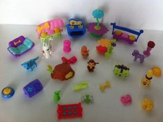 Vintage LPS Littlest Pet Shop and Others Lot Cart Couch Oven Stand Bowls Present | eBay