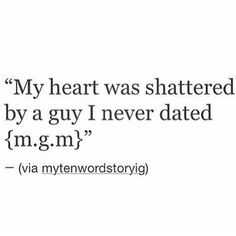 No. My heart was shattered from someone who came into my life in an odd way that I trusted. The next thing I know, my life became a circus of spying, slander, malicious gossip and people mind fucking me and my soul. Not the person .. not him at all but this specifically is what shattered my heart .. I'm good now ...