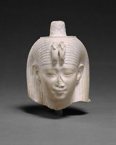 Head Attributed to Arsinoe II.Ptolemaic Period,reign of Ptolemy II and Arsinoe II.Arsinoe II B.), sister/wife of Ptolemy II, one of a line of religiously and politically important Ptolemaic queens. Egyptian Pharaohs, Ancient Egyptian Art, Egyptian Queen, Ptolemaic Dynasty, Hellenistic Period, Metropolitan Museum, Archaeology, Art History, Photos