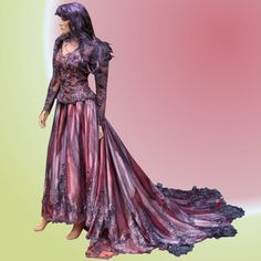 Gothic Wedding Gown Queen of the Vampires. $725.00, via Etsy.