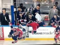 """""""The New York Rangers Guide to a successful line change."""""""
