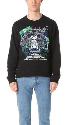 KENZO Embroidered Flyer And Tiger Crew Sweatshirt.  kenzo  cloth  sweatshirt 9d079152749