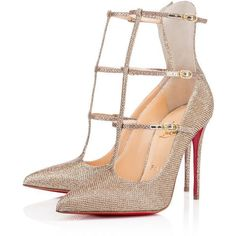 Christian Louboutin Toerless Muse (65.700 RUB) ❤ liked on Polyvore featuring shoes, pumps, heels, christian louboutin, louboutin, gold, gold pointy toe pumps, high heel pumps, gold high heel shoes and heels pumps