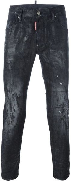 Dsquared2 'Skater' jeans Skater Jeans, Distressed Jeans, Dsquared2, Leather Pants, Black Jeans, Stylish, Shopping, Clothes, Men