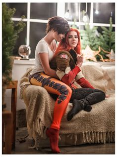 Tracer And Emily Cosplay Celebrates Romantic Overwatch Christmas