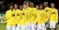 Seleção brasileira em Santiago no Chile.