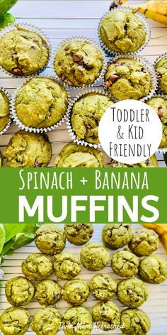 Baby Muffins, Sweet Potato Muffins, Spinach Recipe For Toddler, Toddler Veggie Muffins, Sweet Potato Toddler Recipes, Healthy Toddler Meals, Toddler Snacks, Kids Meals, Toddler Activities