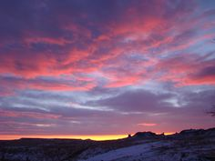 I love watching the silver, purple, crimson clouds in the prairie sky....