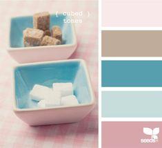 roze blauw beige