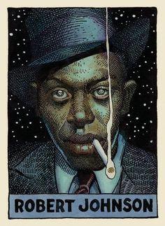 Legends of the Blues byWilliam Stout