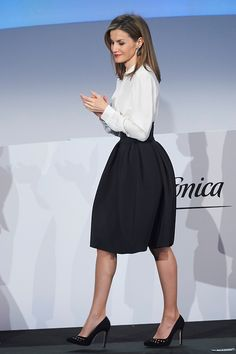 Queen Letizia of Spain attends the delivery of Telefonica Ability Awards from Telefonica at Telefonica Auditorium on 12.01.2015 in Madrid