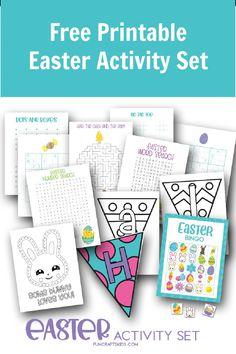Free Printable Easter Activity Set - Fun Crafts Kids