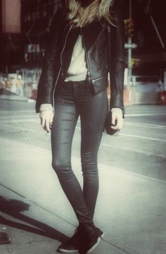 Five Jeans 438 valentine black #streetstyle #fashion #style #winter