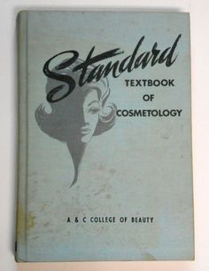 Vintage 1965 Standard Textbook of Cosmetology 60s hair makeup nails style wigs care hardcover book illustrated guide book
