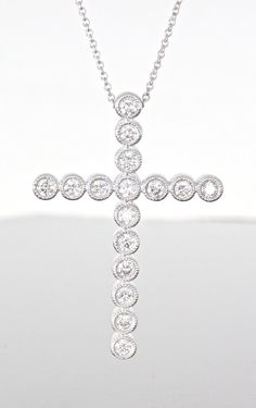 unique diamond cross necklace at Craft-Revival Jewelers