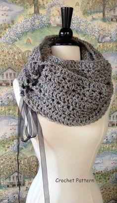 Trinidad patrón de ganchillo bufanda bufanda de BRICOLAJE o gran tamaño grueso capucha