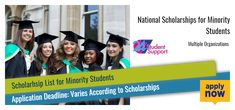 2017 National Scholarships for Minority Students List