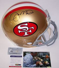 Joe Montana MVP Autographed Hand Signed San Francisco 49ers Throwback Authentic Helmet - PSA/DNA